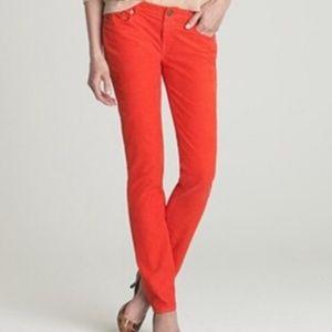 J.Crew Matchstick orange corduroy pants size 30S
